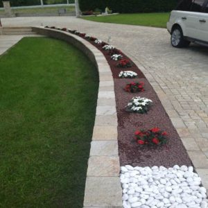 Natural stone walkway and cobblestone