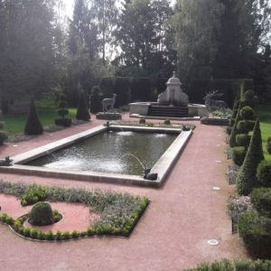 Park development - Fountain and natural stone pond