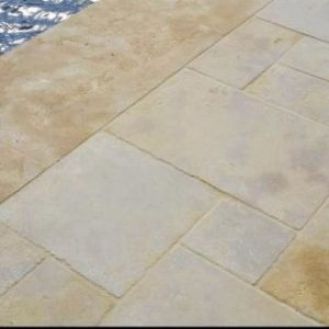Moroccan natural stone slabs and pool coping