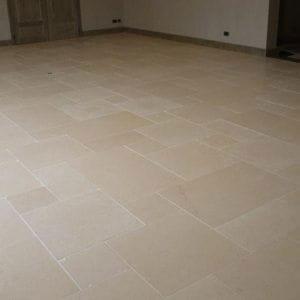 Crema Nova Beige Natural Stone Interior Floor Slabs - Sandblasted Finish