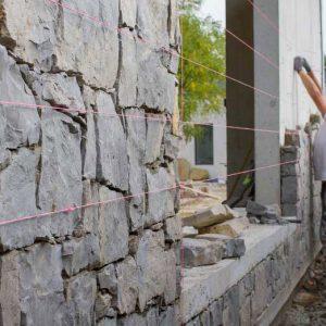 Facade construction site - Veture stone