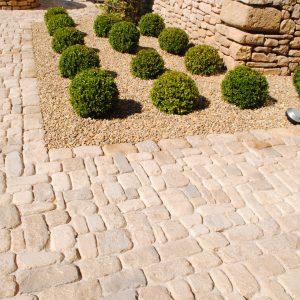 Saint Laurent Cobbled Courtyard