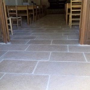 Church La Martre Cèdre Bronze Floor Slabs - Brushed Drum Finish - Free Strip 40 cm