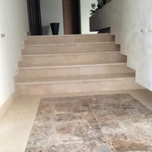 Interior staircase, steps in New Marfil