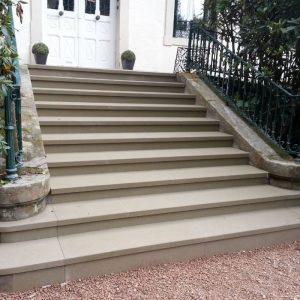 Majestic natural stone staircase