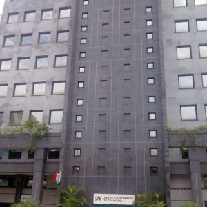 Black granite facade - Gabonese Bank Union
