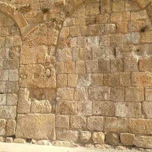 The golden yellow of Jerusalem stone