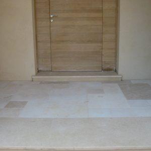 Crema Nova Natural Stone Porch - Sanded and Softened Finish