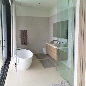 French Saint Germain natural stone bathroom floor