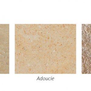 Les différentes finitions de pierre naturelle calcaire espagnole Cenia beige