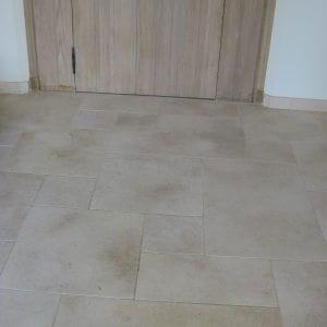 Natural stone floor slab Crema Nova - Sandblasted finish